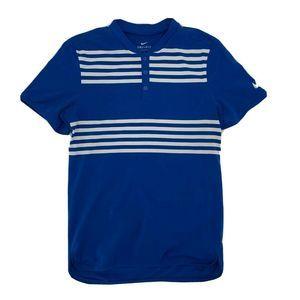 Nike Mens Shirt Short Sleeve Size S Blue Stripe